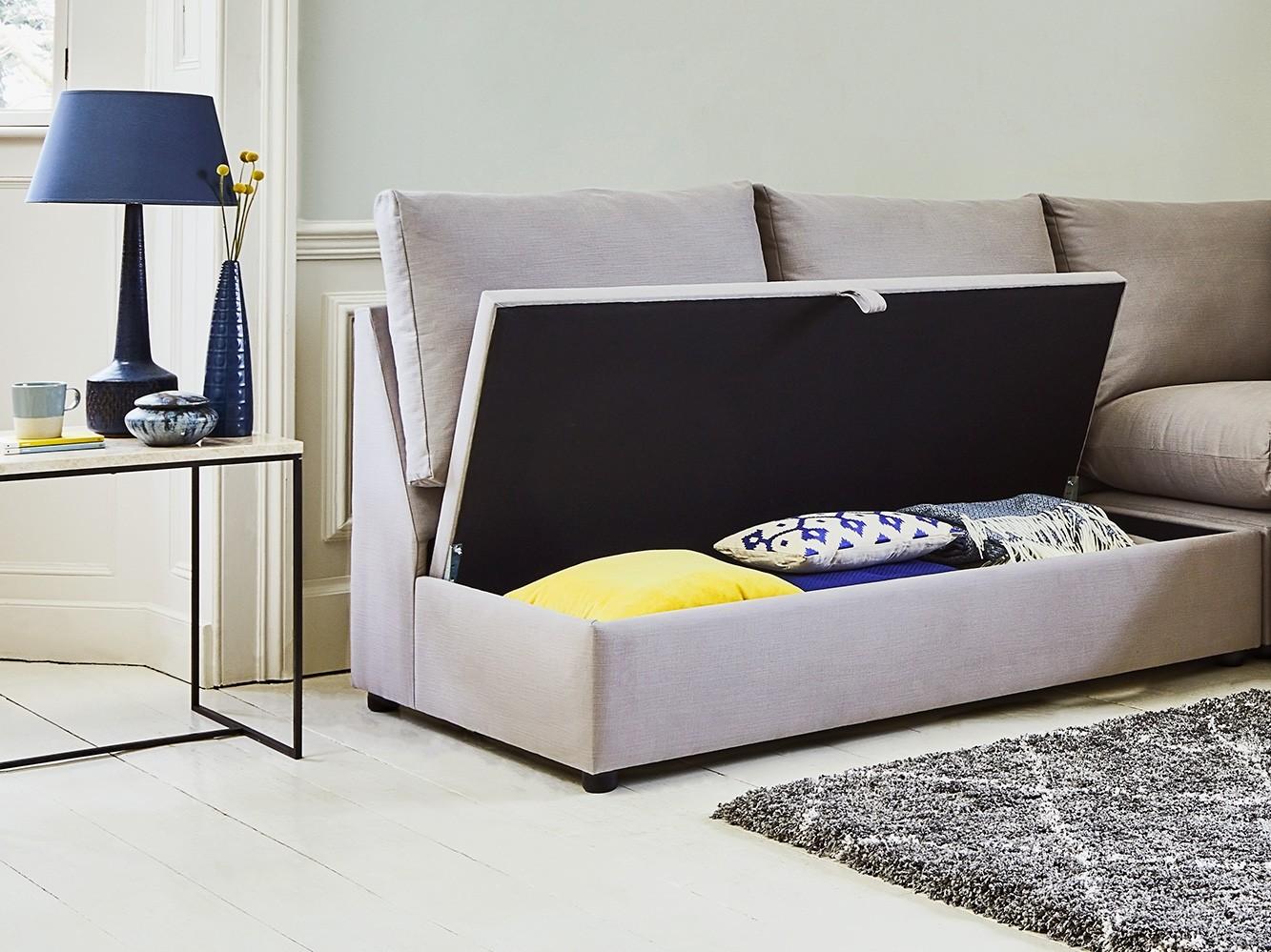 The Minety Modular Corner Storage Sofa Bed