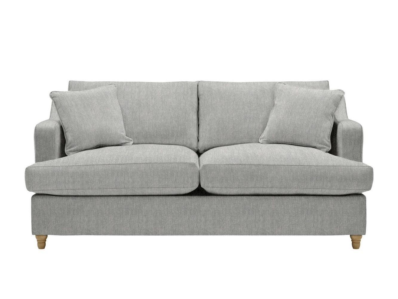 This is how I look in Stain Resistant Broad Weave Linen Silver with siliconized hollow fibre seat cushions