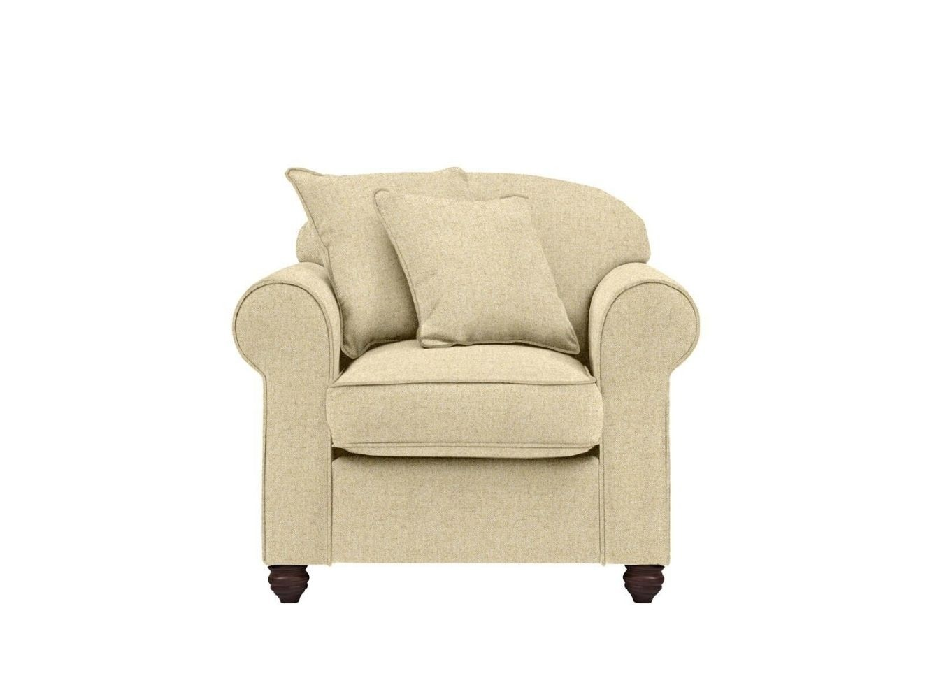 This is how I look in Herringbone Wool Honeydew with siliconized hollow fibre seat cushions