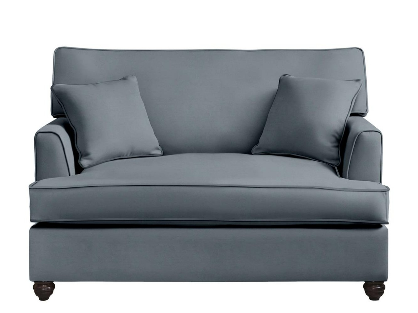 This is how I look in House Velvet Gunmetal with siliconized hollow fibre seat cushions