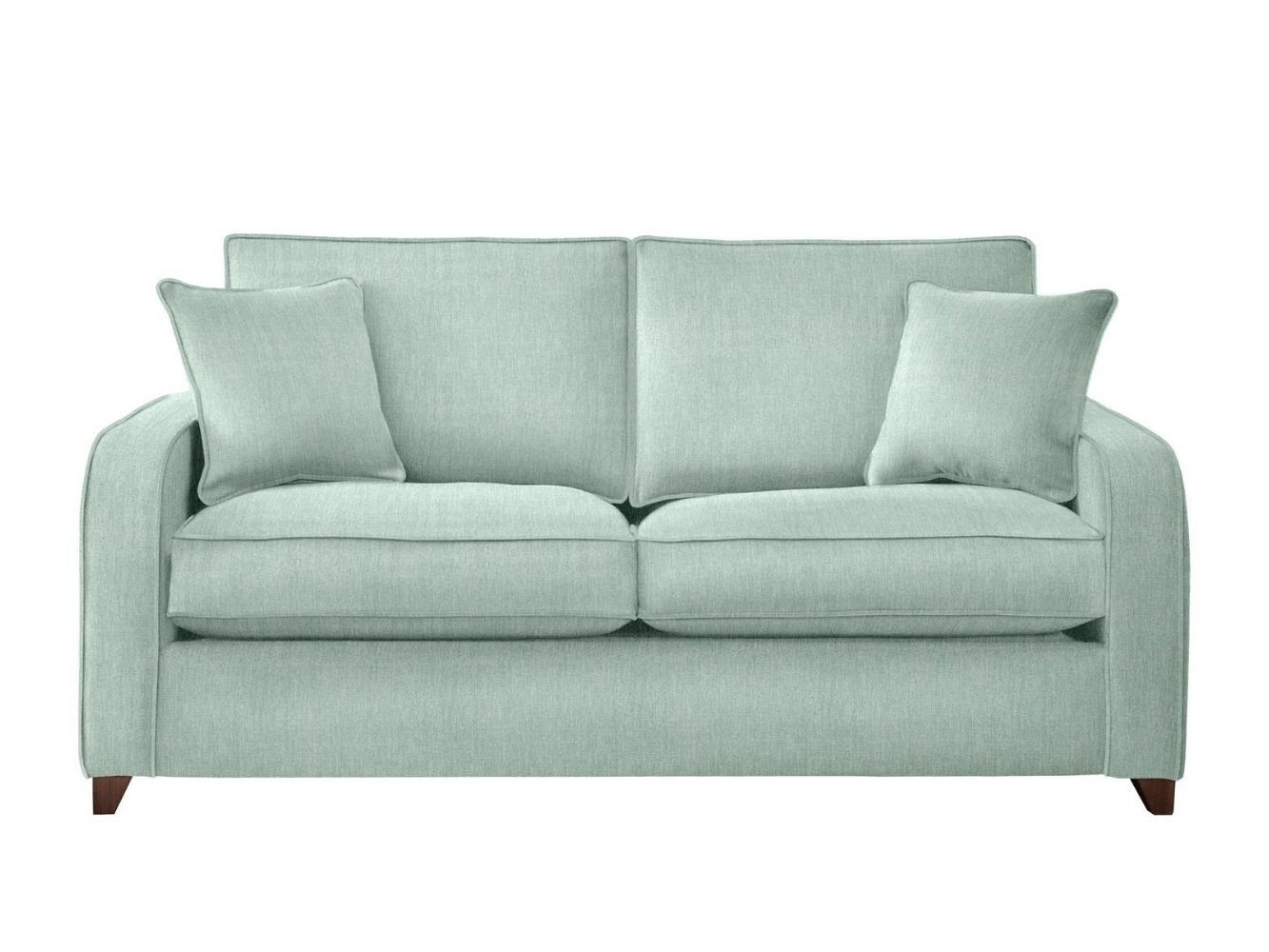 This is how I look in Stain Resistant Broad Weave Linen Aqua with feather-wrapped foam seat cushions